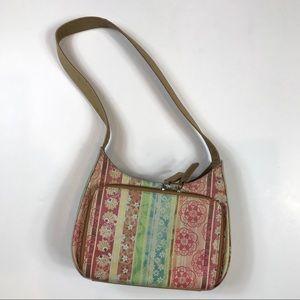 Fossil Hobo Floral Leather Handbag Purse